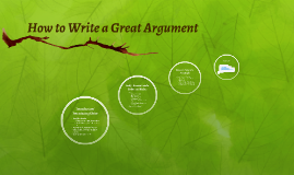 How to Write a Great Argument
