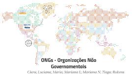 ONGs - Organizações Não Governamentais