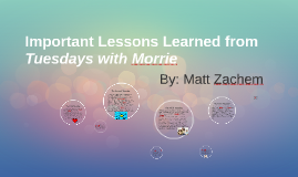 Copy of Important Lessons Learned from Tuesdays with Morrie