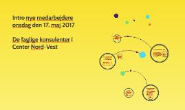 Intro nye medarbejdere maj 2017
