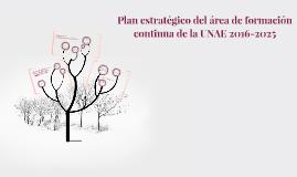 Plan estratégico del área de formación continua de la UNAE 2