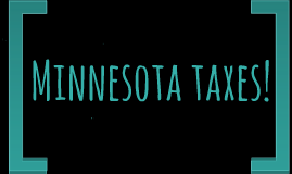 Minnesota taxes!