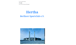 Corporate Identity Hertha BSC