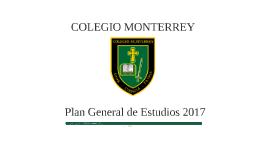 Colegio Monterrey Plan General de Estudios 2017