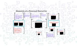 Elements of a Personal Narrative