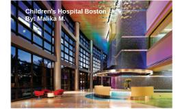 Boston Children's Hospital Capstone Presentation