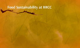 Food Sustainability at RRCC