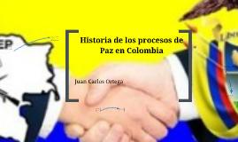 Intentos de paz en Colombia