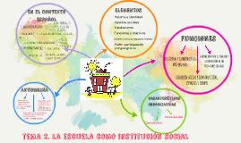 tema 2. la escuela como institución social
