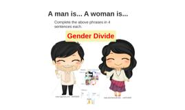 A man is...