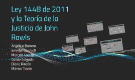 ley 1448 de 2011 y la Teoria de la Justicia de John Rawls