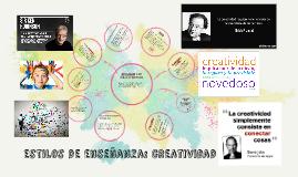 de enseñanza: creatividad