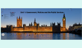 Copy of Unit 1 Government, Policies and the Public Services