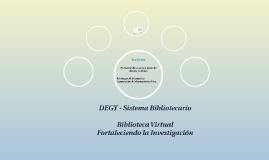 DEGT - Sistema Bibliotecario