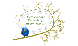 Bayview Elementary Library Rules K-4