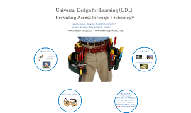 Universal Design for Learning (UDL):