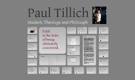 Paul Tillich - Student, Theologe und Philosoph
