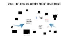 INFORMACIÓN, COMUNICACION Y CONOCIMIENTO