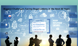 assignment 3: presentation: �biggest challenges facing organizations in the next 20 years� Assignment 3: presentation: biggest challenges facing organizations in the next 20 years in this assignment, you will outline five (5) challenges what you believe will be the biggest challenges facing organizations in t he next twenty (20) years of the five challenges use one (1) challenge and five reason for choosing that challenge.