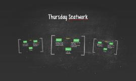 Thursday Seatwork