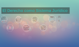 El Derecho como Sistema Jurídico