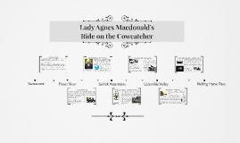 Lady Agnes Macdonald's