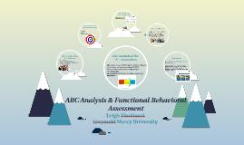 ABC Analysis & Functional Behavioral Assessment