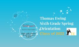 Sixth Grade Spring Orientation