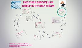 Copia de PASOS PARA OBTENER UNA CORRECTA HISTORIA CLINICA