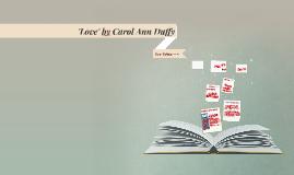 'Love' by Carol Ann Duffy