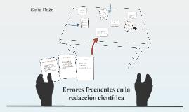 Errores frecuentes en la redaccion cientifica