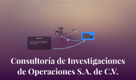 Consultoría de Investigaciones S.A. de C.V.