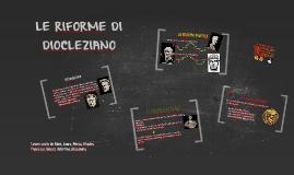 Copy of LE RIFORME DI DIOCLEZIANO