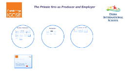 The Private firms as Producer and Employer