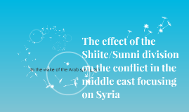 The effect of  Shiite