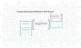Categorizaciones Sexistas y Rol Social