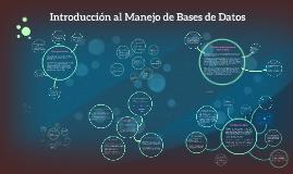 Introducción al Manejo de Bases de Datos