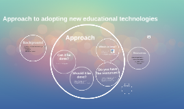 Approach to adopting new educational technologies