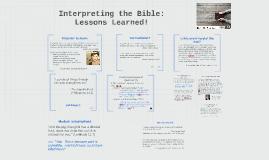 6 - Bible Course - Interpretation