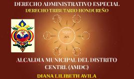 ALCALDIA MUNICIPAL DEL DISTRITO CENTRL (AMDC)