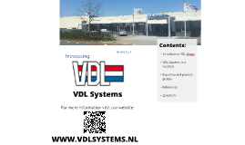 Introducing VDL Systems