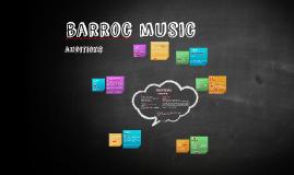 barroc auditions