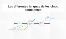 Copy of Las diferentes lenguas de los cinco continentes