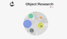 Cigarette Object Research