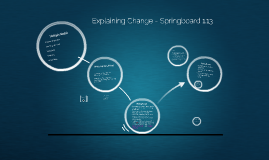 Explaining Change - Springboard 1.13