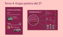 Copy of Tema 4. 2C El grupo poético del 27