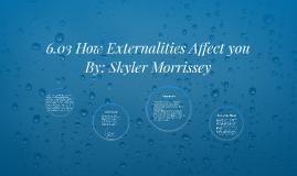 6.03 How Externalities Affect you
