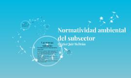 Normatividad ambiental del subsector