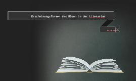 Das Böse in der Literartur