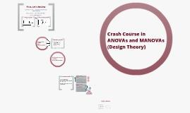 Factorial ANOVA/MANOVA Crash Course